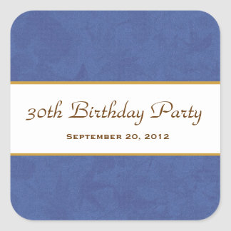 Purple and Gold Muted Leaves Pattern Wedding V19 Square Sticker