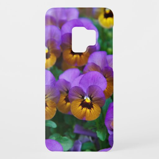 Purple and Gold Pansies Case-Mate Samsung Galaxy S9 Case