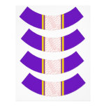 Purple And Gold Photo Frame Cupcake Liner Letterhead