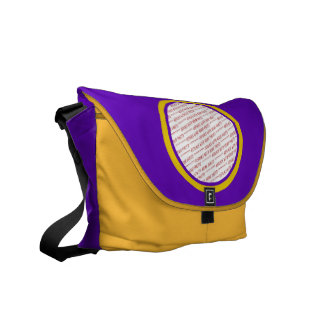 Purple And Gold Photo Frame Template Courier Bags