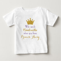 Purple and Gold Princess T-Shirt for Girls