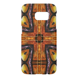 Purple and Gold Royal Tribal Pattern Samsung Galaxy S7 Case