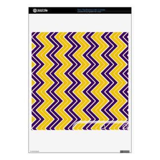 Purple and Gold Sideways Chevron Skin For PS3 Slim
