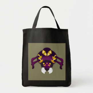 Purple and Gold Spider Tote Bag