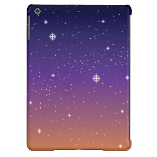 Purple and Gold Starry Sunset Sky iPad Air Cover