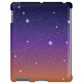 Purple and Gold Starry Sunset Sky