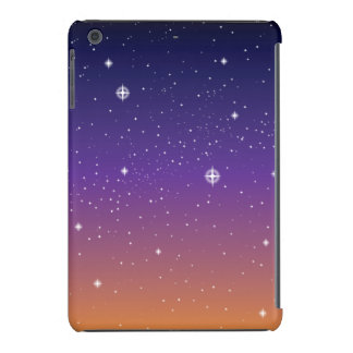 Purple and Gold Starry Sunset Sky iPad Mini Cases