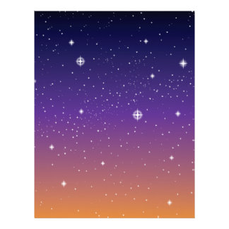 Purple and Gold Starry Sunset Sky Flyer