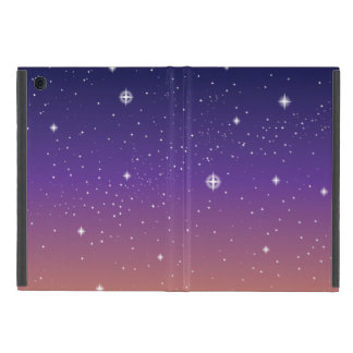 Purple and Gold Starry Sunset Sky Case For iPad Mini