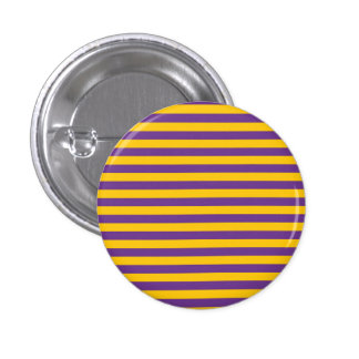 Purple and Gold Stripes Button