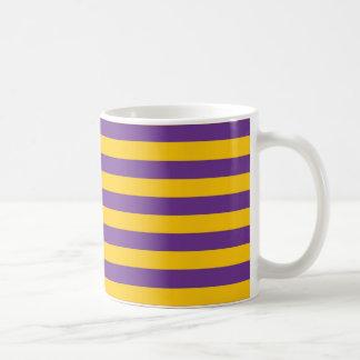 Purple and Gold Stripes Mug