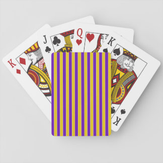 Purple And Gold Stripes - Team or School Colors Card Decks