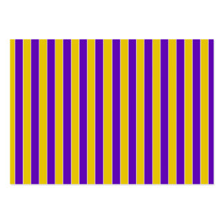 Purple And Gold Stripes - Team or School Colors Large Business Cards (Pack Of 100)