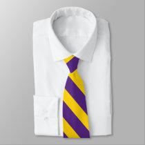 Purple and Gold University Stripe Tie