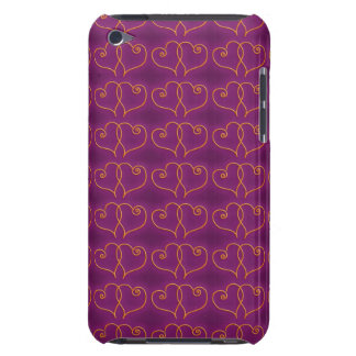 Purple and Gold Valentines Hearts Case-Mate iPod Touch Case