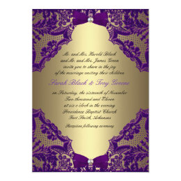 Merveilleux Purple And Gold Wedding Invitation ...