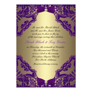 Purple and gold wedding invitations announcements zazzle purple and gold wedding invitation stopboris Images