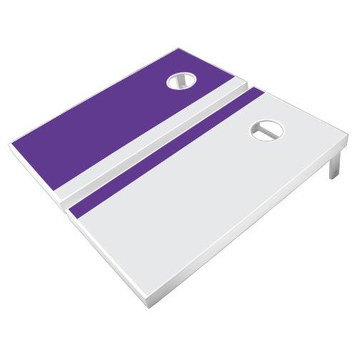 Purple and Gray Add Your Logo Cornhole Set