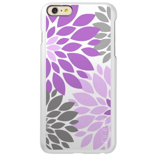 Purple and Gray Chrysanthemums Floral Pattern Incipio Feather Shine iPhone 6 Plus Case