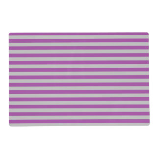 Purple and Gray Stripes Laminated Placemat