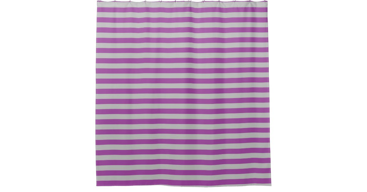 Purple And Gray Stripes Shower Curtain Zazzle