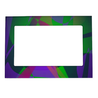 Purple and Green Abstract Composition Gradation Magnetic Photo Frame