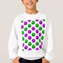 Purple and Green Basketball Pattern Sweatshirt