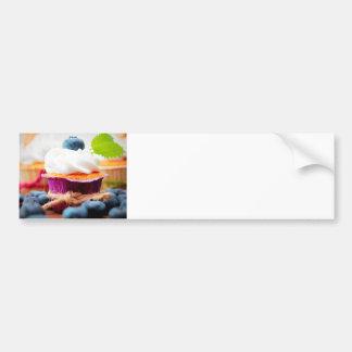 Purple and Green Blueberry Cupcake - Sweet Bakery Bumper Sticker
