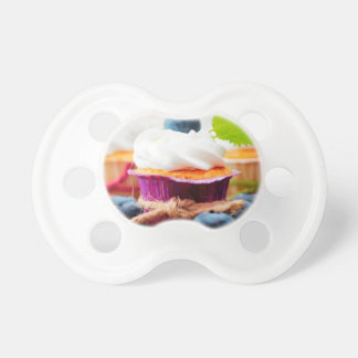 Purple and Green Blueberry Cupcake - Sweet Bakery Pacifier