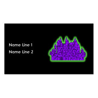 Purple and Green Castle. Business Card