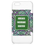 Purple and Green Celtic Knotwork Frames iPhone 5C Cover