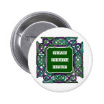 Purple and Green Celtic Knotwork Frames Pin
