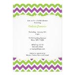 Purple and Green Chevron Bridal Shower or Birthday Custom Invites