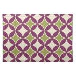 Purple and green circles place mats