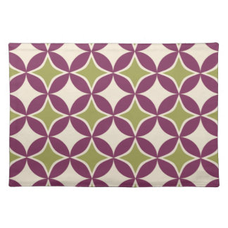 Purple and green circles placemat