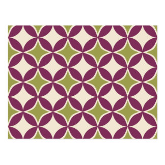 Purple and green circles postcard