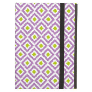 Purple and Green Diamond Ikat Pattern Case For iPad Air