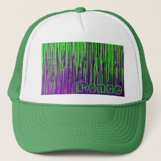 Purple and Green Drip Cat Trucker Hat