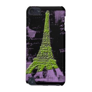 Purple and Green Eiffel Tower PARIS Phone Case