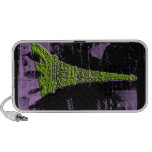 Purple and Green Eiffel Tower PARIS Phone Case iPod Speakers