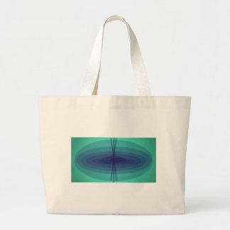 Purple and green ellipse design bags