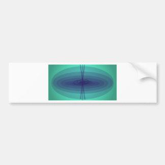 Purple and green ellipse design bumper sticker
