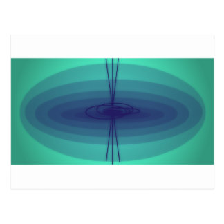 Purple and green ellipse design postcard
