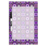 Purple and Green Fractal Collage Dry-Erase Board