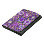 Purple and Green Fractal Collage Wallet