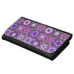 Purple and Green Fractal Collage Wallets