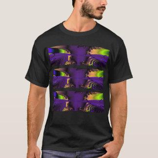 Purple and Green Funky Fractal Art. T-Shirt