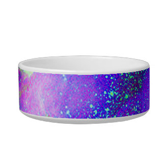 purple and green Galaxy Nebula space image. Bowl