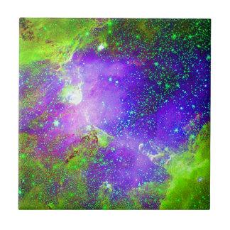purple and green Galaxy Nebula space image. Tile