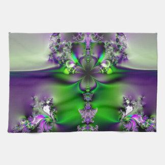 Purple and Green Glory Towels